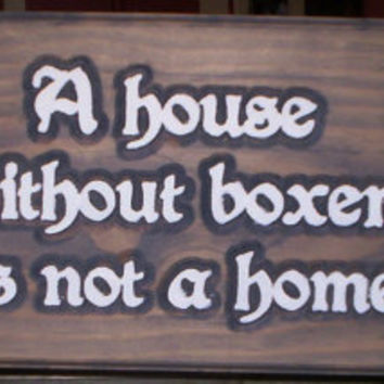 Boxer yard sign indoor or outdoor wood sign