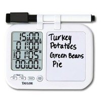 Taylor Precision Products Four-Event Kitchen Timer with Whiteboard (Regular)