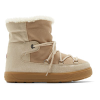 Beige Shearling Fanny Ankle Boots