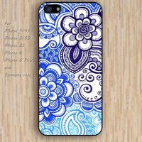iPhone 4 5s 6 case cartoon blue sea design flowers colorful phone case iphone case,ipod case,samsung galaxy case available plastic rubber case waterproof B653