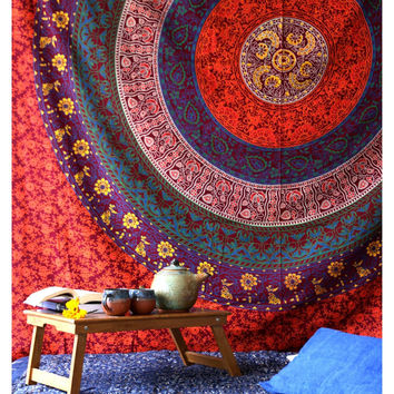 Terra Mandala Throw Bedspread / Wall Hanging