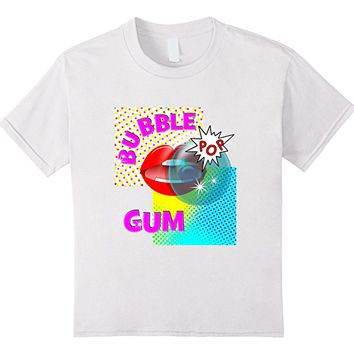 Comic Book Retro Pop Art Bubble Gum Red Lips T-Shirt