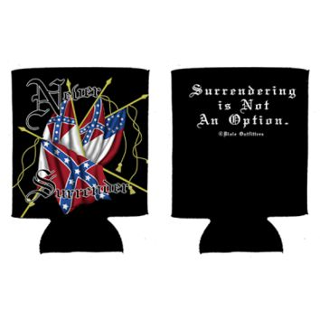 Never Surrender Can Koozie By Dixie Outfitters®