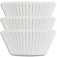 Solid White Baking Cups