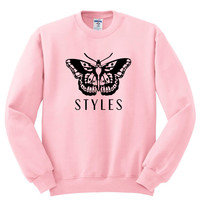 "Harry Styles ""Butterfly Tattoo / Styles"" Crewneck Sweatshirt"