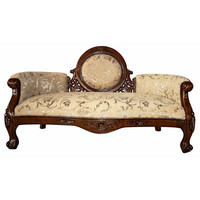 Park Avenue Collection Victorian Cameo Backed Settee