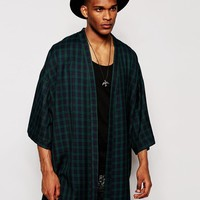 Reclaimed Vintage | Reclaimed Vintage Plaid Kimono In Standard Length at ASOS