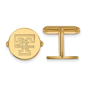 NCAA 14k Gold Plated Silver University of Tennessee Cuff Links
