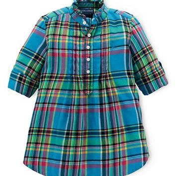 Ralph Lauren Childrenswear Girls 2-6x Plaid Cotton Shirt