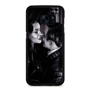 Morticia And Gomez The Addams Family Samsung Galaxy S7 Edge Case