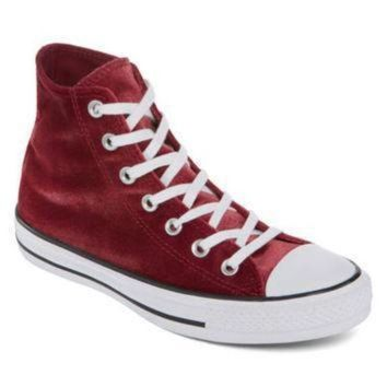 CREYONV converse chuck taylor all star high top velvet womens sneakers jcpenney