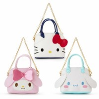 Cute Hello Kitty My Melody PU Leather Coin Purse Wallet Small Chain Sling Bag Tote Handbag Girls Mini Shoulder Messenger Bag