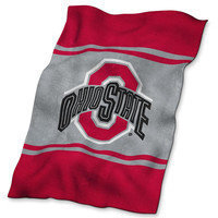 Ohio State Buckeyes NCAA UltraSoft Fleece Throw Blanket (84in x 54in)