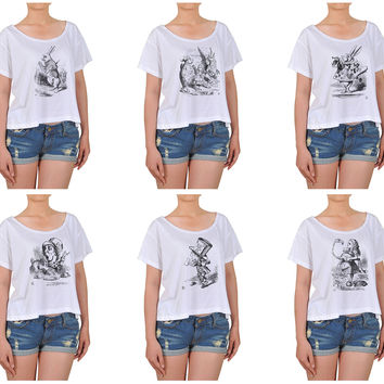 Girl Alice in Wonderland Cotton Printed Croptop WTS_08