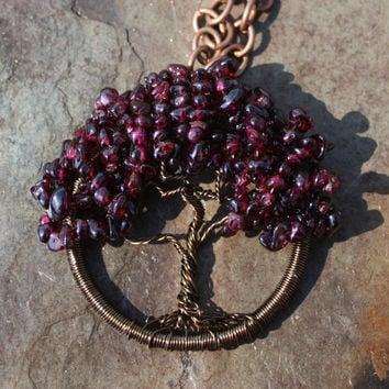 Garnet Crimson King Maple Tree of Life for Family, Love, Fidelity, Passion, Courage, Protection, Spiritual Healing, and Stability