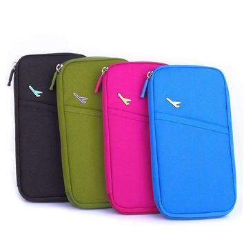 Multifunction Passport Wallet Credit Card Package ID Holder Travel Storage
