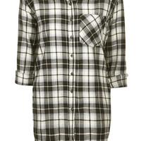 Oversized Checked Shirt - Topshop