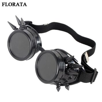 Gothic Victorian Goggles Retro Welding Punk Steampunk Cosplay Glasses 2017 Hot Sale