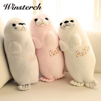 Kawaii Plush Seal Doll Lifelike Sea Lions Plush Toys Cuddle Pillow Kids Toys Lovely Doll Girlfriend Best Gifts Brinquedos WW341