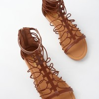 Jora Cognac Gladiator Sandals