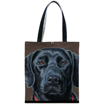 Black Lab Canvas Tote