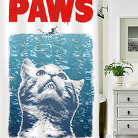 Crazy Cat Meow Paws Jaws special custom shower curtains that will make your bathroom adorable