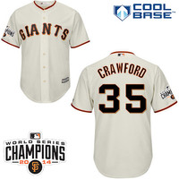 San Francisco Giants 2015 Cool Base Brandon Crawford Home Jersey w/2014 World Series Champions Team Patch - MLB.com Shop