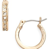 Women's Lonna & Lilly Crystal Hoop Earrings - Gold