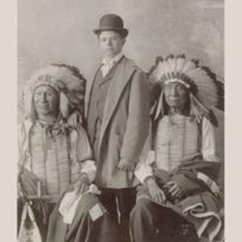 Chief Red Cloud, Mr. Goodwin, and Chief American Horse: Fine art canvas print (12 x 18)
