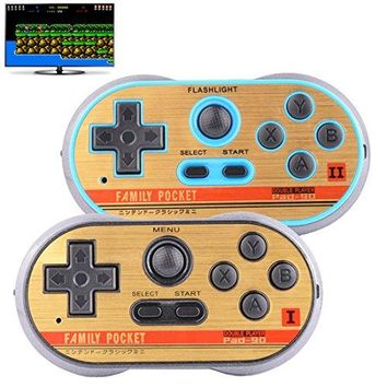 Retro Games Controller Mini Classic Handheld Game Console Toys for Kids Gamepad Joystick Support Dual battle Load in 260 TV Video Games Childhood Plug & Play Gaming Station (Black+Blue)