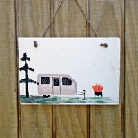 Wood Camping Sign, custom, personalize, fathers day
