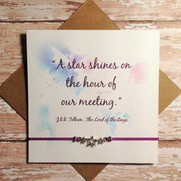 """Star Friendship Bracelet with Card 