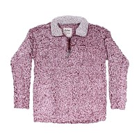 Frosty Tipped Women's Stadium Pullover in Vintage Wine by True Grit (Dylan) - FINAL SALE