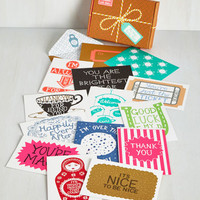Quirky Lovely Things in Life Notecard Set by ModCloth
