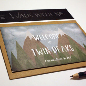 Welcome to Twin Peaks - Set of 4 cards & envelopes
