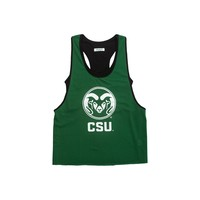 Colorado State University Mesh Tank with Attached Sporty Bralette