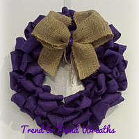 Deep Purple Burlap Wreath