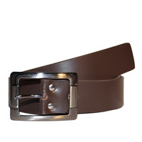 Men's Smooth Brown Real Leather Formal Belt