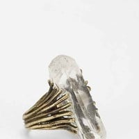 Adorn By Sarah Lewis Quartz Talon Ring- Gold 7