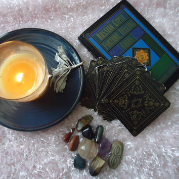 Gypsy fortune telling card reading, tarot cards, new age, metaphysical, intuitive reading
