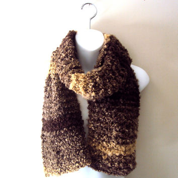 Chunky Soft Scarf Knit Cowl Neckwarmer Autumn Rustic Colors Women Men Clothing Fall Winter Unisex Fashion