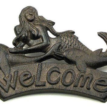 Mermaid Welcome Wall Plaque
