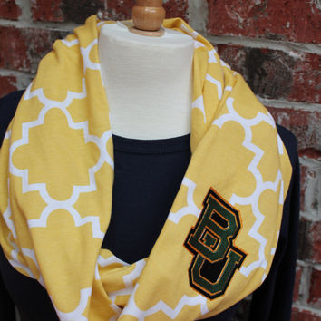 Baylor Bear Infinity Scarf  hot trend for collegiate games