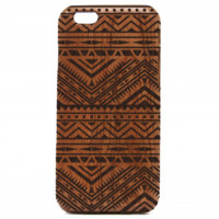 Aztec Tribal Pattern Wooden iPhone Case - Aztec iPhone Case, Mayan Art iPhone cover - All Wood Everything