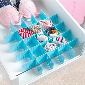 4Pcs/Lot DIY Thickened Storage Drawer Partitions Divider Board Organizing Partition Storage Box Bra Underwear Organizer YA727