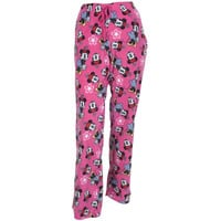 Minnie Mouse - Minnie Lovely All-Over Pink Juniors Fleece Sleep Pants