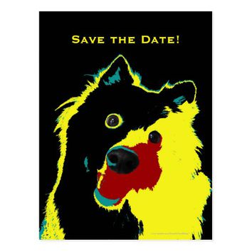 Save the Date 100th Birthday Dog Announcement Postcard