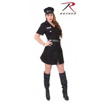 Women's Black Police Costume