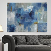 'Blue Morning' Painting Print on Wrapped Canvas