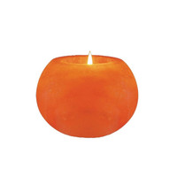 Ball Shaped Himalayan Salt Candle Holder
